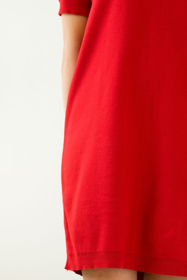 Backtalk PDX Vintage Knit Dress - Red