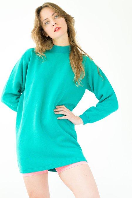 Backtalk PDX Vintage Sweatshirt Dress - Teal