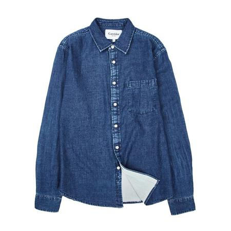 Corridor Lined Long Sleeve shirt - Indigo