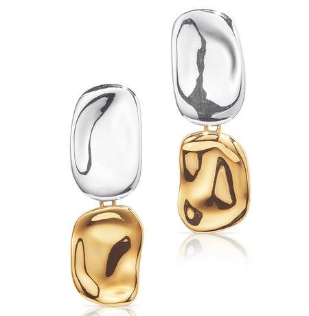Jenny Bird Thea Earrings - Two Tone