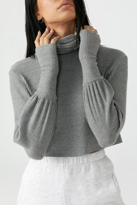 Joah Brown Brooklyn Turtleneck - Gray Rib