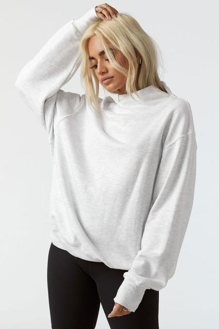 Joah Brown Oversized Turtleneck Sweatshirt - Pearl Gray