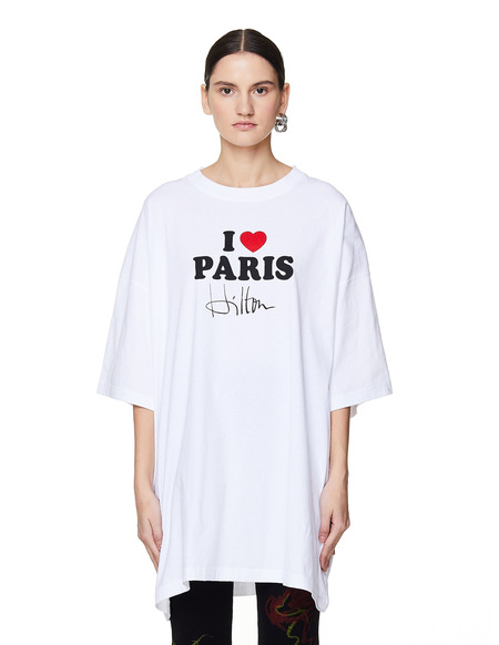 Vetements I Heart Paris Cotton T-Shirt - White