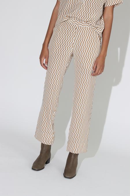 Rachel Comey Mott Pant - Khaki Squiggle