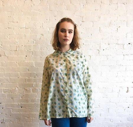 Auntie Oti Button Shirt - Flower Print