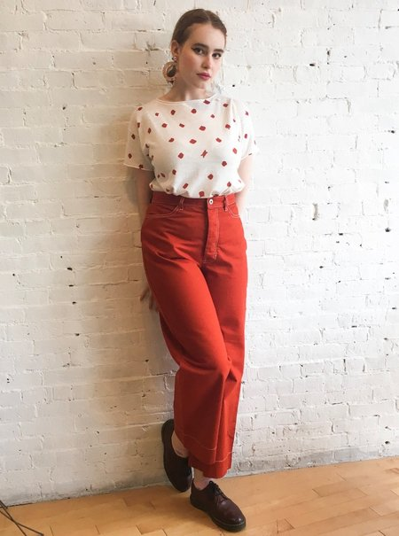 Kowtow Stage Pant Jeans - Brick Red
