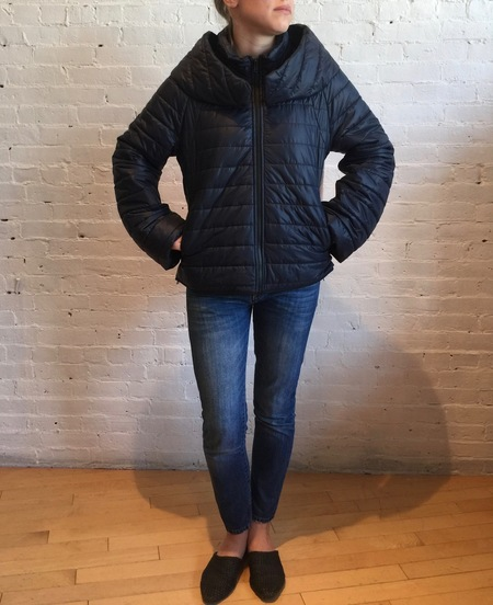 Virginia Bizzi Color Block Puffer Coat