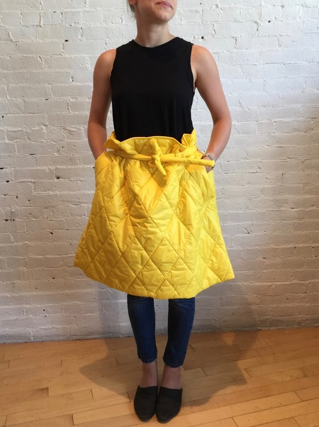 Collection PRIVEE Quilted Skirt - Yellow