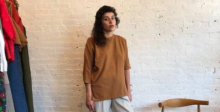 Esby Rebeka Woven Top - Camel