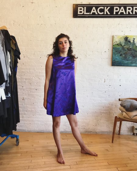 Hache Mini A-Line Dress - deep purple
