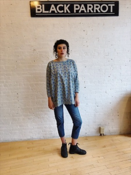Échappées Belles Chemise Elfe Top - BLUE
