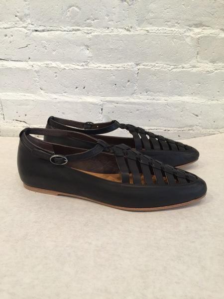 Coclico Leather Ringo Flat Shoe - Black