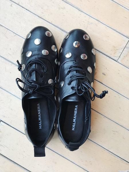 Halmanera Elodie Shoe - Black/Silver Stud