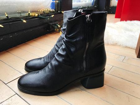 Halmanera Arisa Leather Ankle Boot - Black