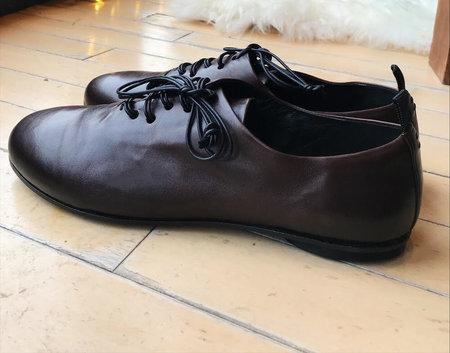 Halmanera Elodie Leather Shoe - Brown