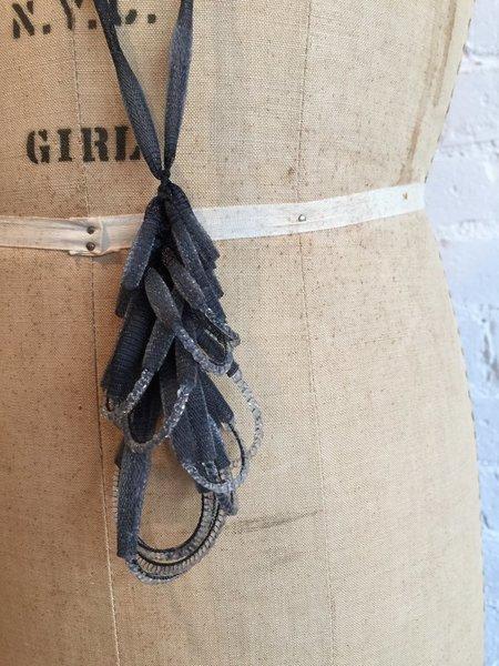 Tzuri Gueta Lace and Silicone Pendant Necklace