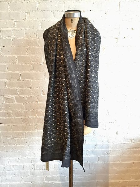 Monsoon Embroidered Scarf - Black/Grey