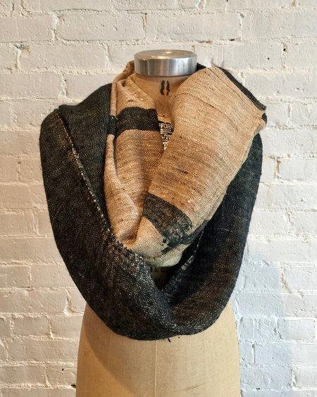 Monsoon Midweight Silk Scarf - Black/Natural