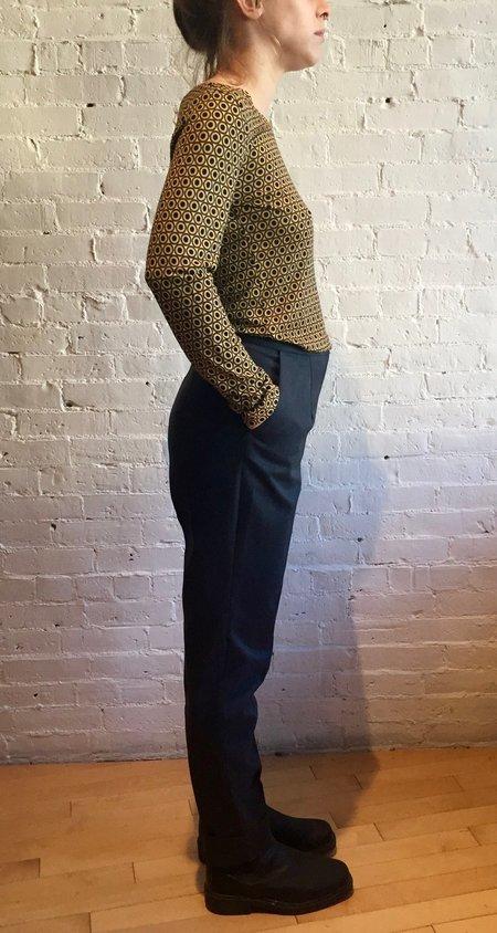 Catherine Andre Long Sleeve Shirt - Pea Green/Dots
