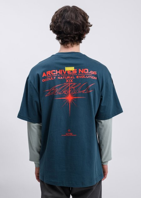 LXVI Archives Long Sleeve T-shirt - Black/Blue