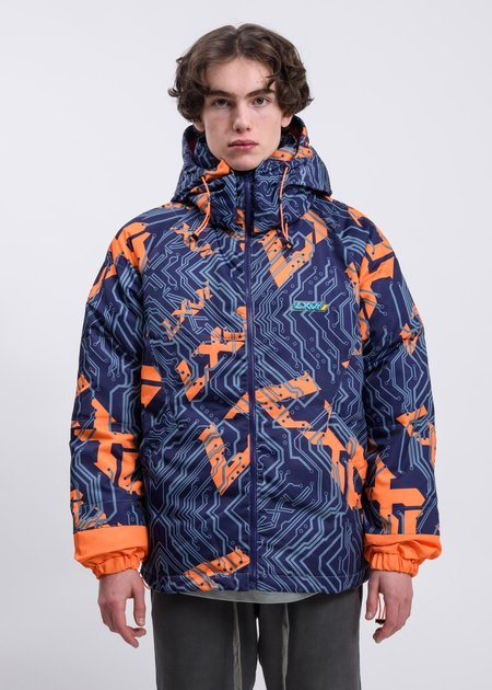LXVI Logo Jacket - blue/orange