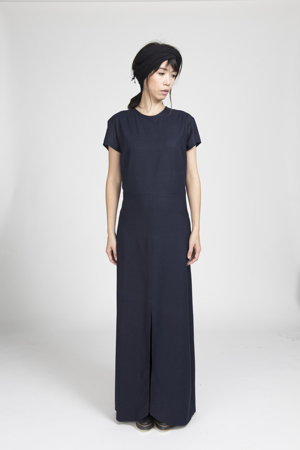 Ali Golden Cap Sleeve Maxi Dress In Black Garmentory