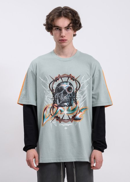 LXVI Archives Long Sleeve T-shirt - Orange/Grey