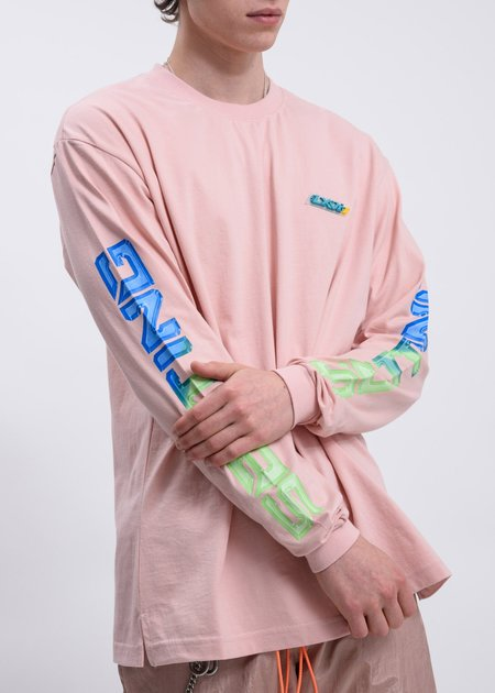 LXVI Chest Logo Long Sleeve T-Shirt - Pink
