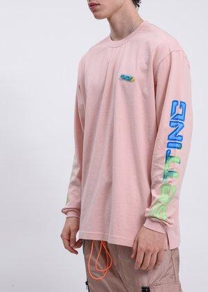 LXVI Chest Logo Long Sleeve T-Shirt - Pink