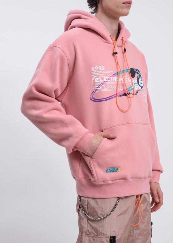 LXVI Pink Mixing Hoodie - pink