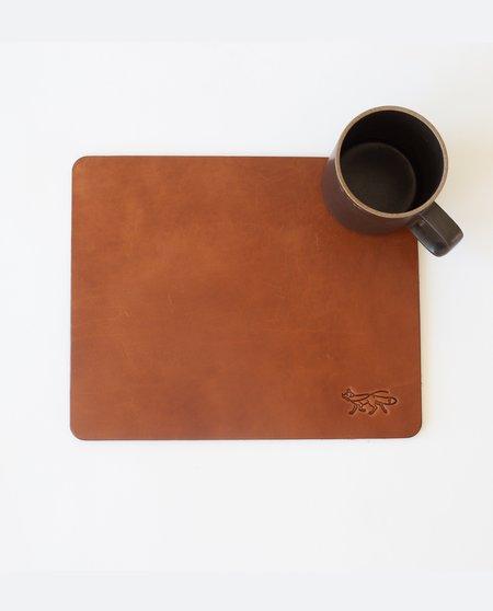Foxtrot Supply Co. Large Leather Mousepad - Cognac