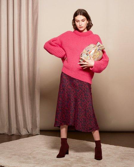 Ba&sh Teddy Skirt - Dark Red Print