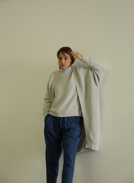 KOWTOW JOURNEY CARDIGAN - GREY MARLE