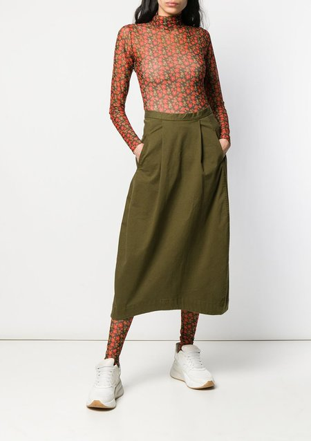 Henrik Vibskov PICKLE SKIRT - MILITARY OLIVE