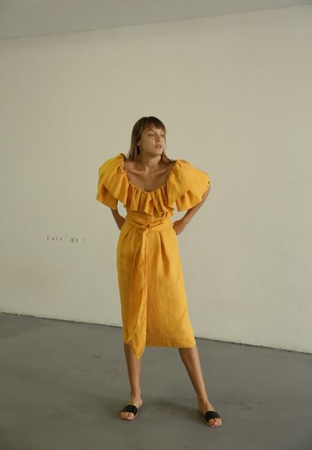 MARA HOFFMAN ARABELLA DRESS - YELLOW