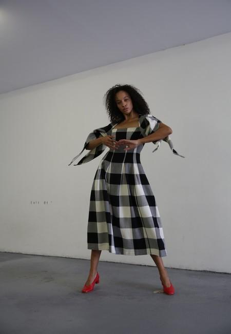 MARA HOFFMAN KALILAH DRESS - BLACK CREAM