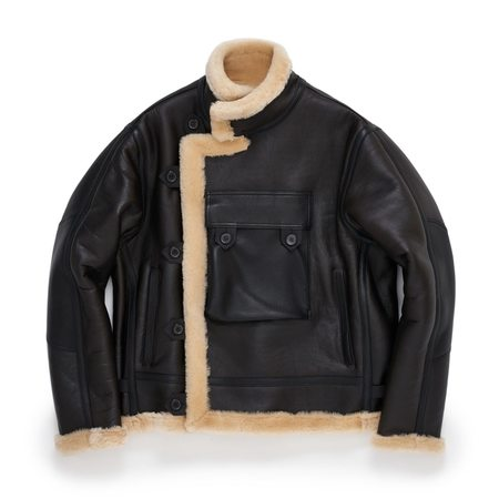 Eastlogue SHEARLING Lined Leather MOTORCYCLE Jacket