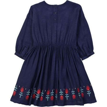Kids Hello Simone Tulips Dress - Blue