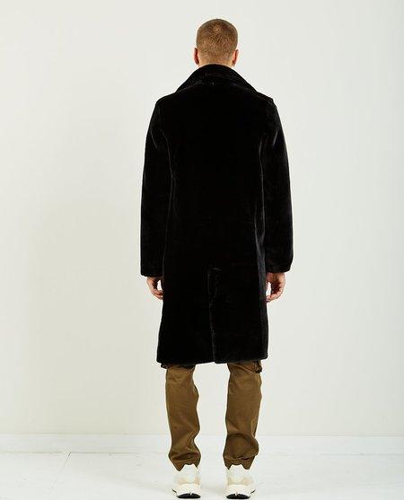 Ih Nom Uh Nit LONG COAT ECO FUR - BLACK