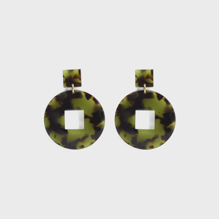 curated by. Tortoise Earrings - green