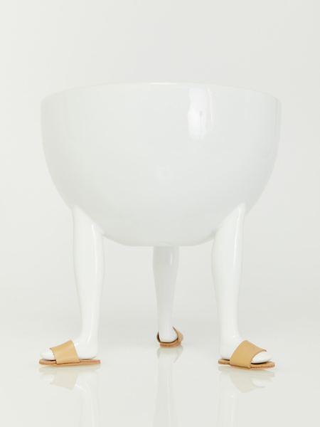 Chen Chen & Kai Williams Leg Bowl with Shoes - White
