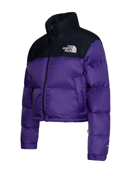 The North Face Crop Nuptse Jacket - Hero Purple