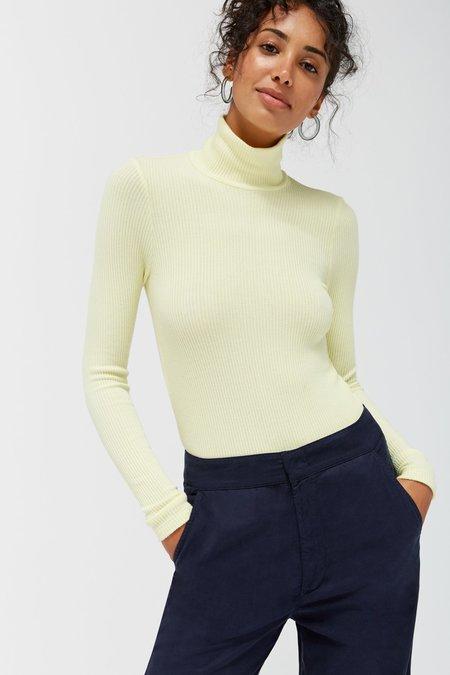 Lacausa Sweater Rib Turtleneck - Buttermilk