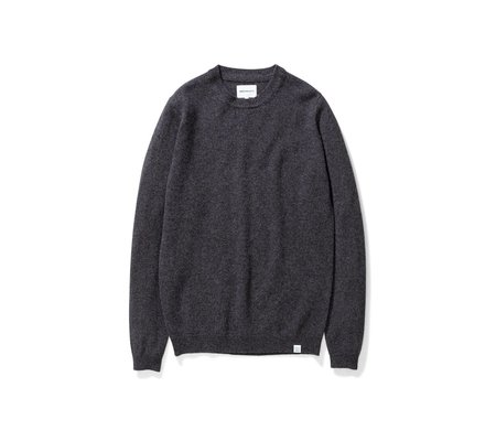 Norse Projects Sigfred Lambswool Sweater - Charcoal Melange