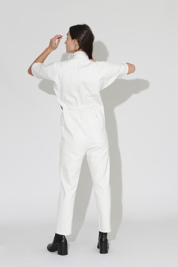 Rachel Comey Handy Jumpsuit - Dirty White/Washed Black Denim