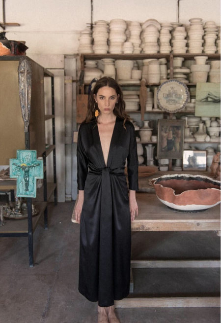 LUPE Silk Gina Dress - black