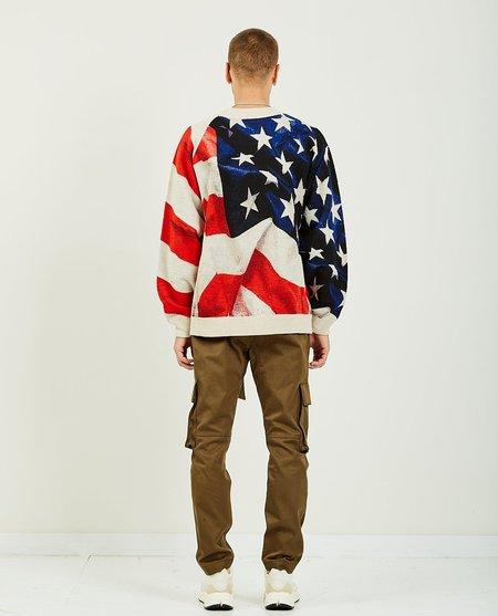 Ih Nom Uh Nit OVERSIZE KNIT AMERICAN FLAG