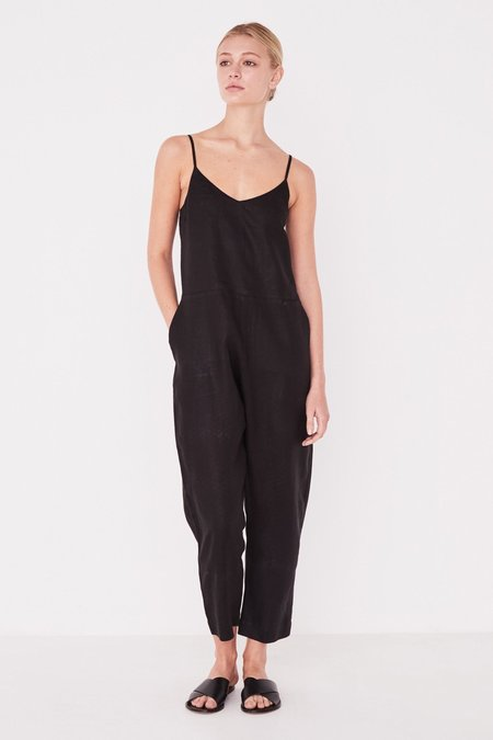 Assembly Label Linen Slip Jumpsuit - Black