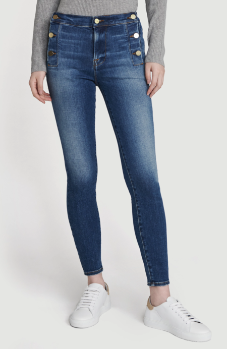 FRAME Denim Frame Le High Skinny Side Button Jean - Lupin