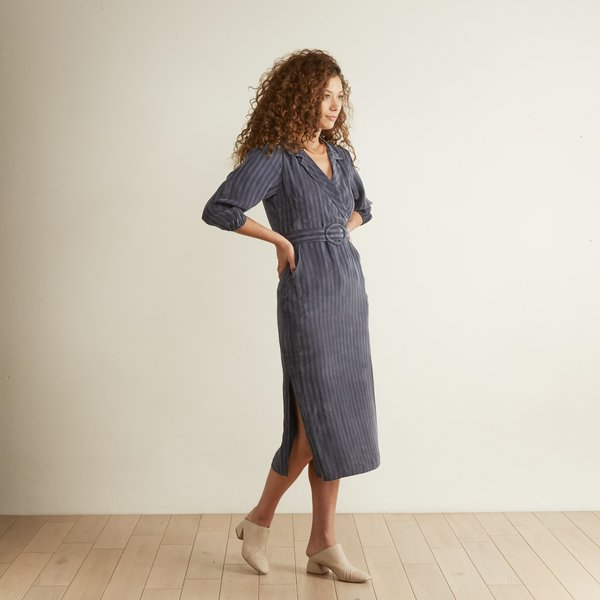 The Odells Faux Wrap Dress - Nightshade